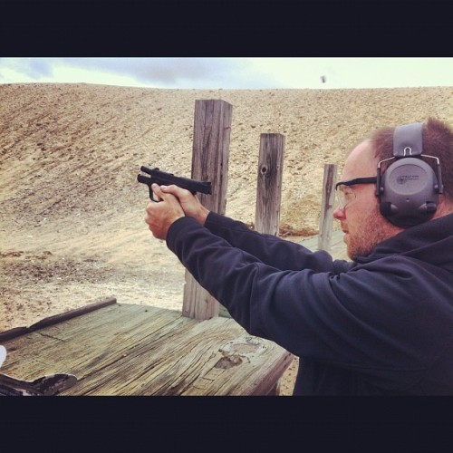 Shooting the M&P Shield. #casesflying #m&p