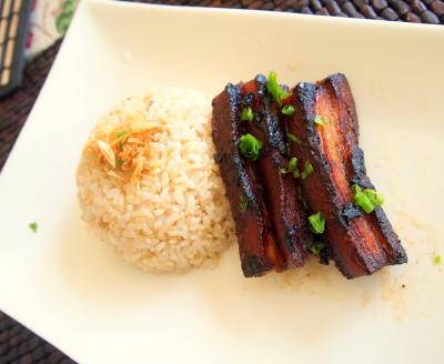 tocino (browned pork belly)