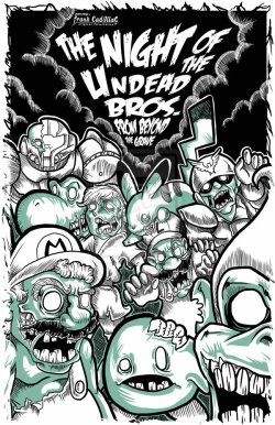 theawkwardgamer:  The night of the undead Bros from beyond the grave by Frank-Cadillac