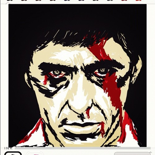 Attempt for #teamdliweek28 Word : #SCARFACE #scarfaceds #AlPacino #movie #drawsomething #drawsomethingepic #drawsomethingdesigns #awesomedrawsome #handdrawnart #bestofdrawsomething #drawsomethingfanatics #artmazing #teamdli #iparindhidadraws