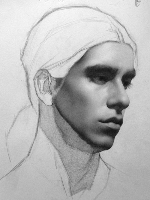 lasagnacat:  pointa-patb:  portrait drawing in progress… graphite on paper  (ノಥ益ಥ)ノ ┻━┻