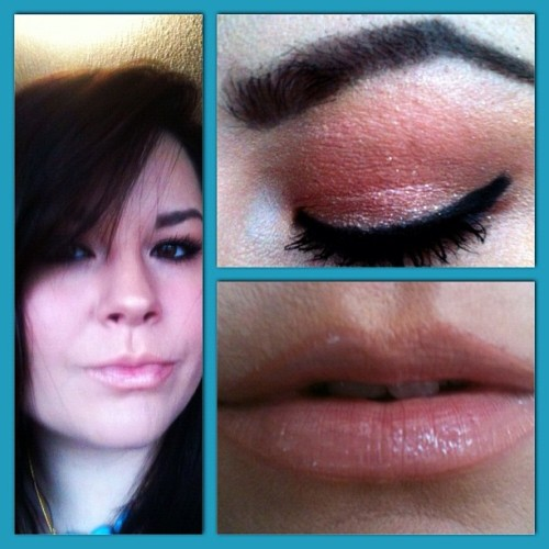 #Sparkly #neutral #fotd. #urbandecay #nakedpalette #motd #brown #taupe #nude #lipstick #mac #maccosmetics #katvond #maybelline #makeup #nofalsies #elf