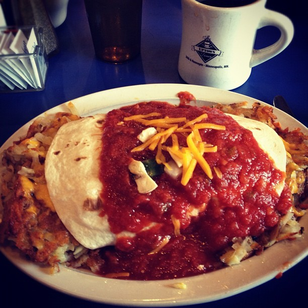 This breakfast, you guys #texmex  (at Uptown Diner)