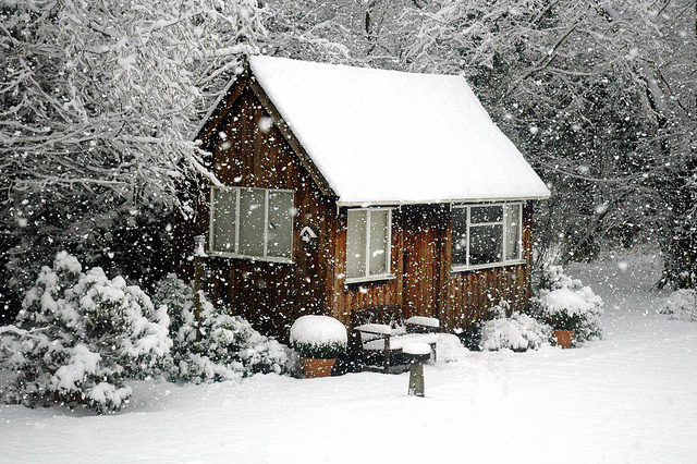 Christmas card: House in the snow by Alex Eckford on Flickr.
