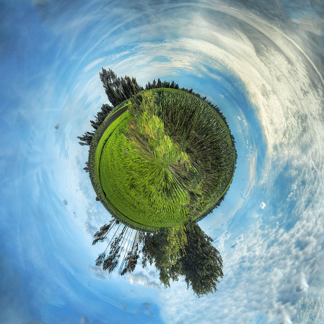 Mini Planet Corn Field (From Corn Field [CPL HDR PANO]) by Shoyun on Flickr.