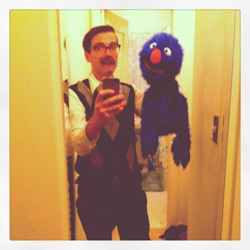 nevertoooldtolovemuppets:  My pal, Matt, went to a party dressed as Frank Oz. Pretty damn awesome, if you ask me!  This is super fantastic!