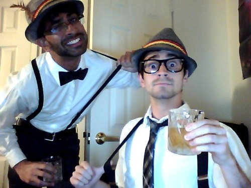 Halloweekend. Nothing says fun like suspenders and bourbon.