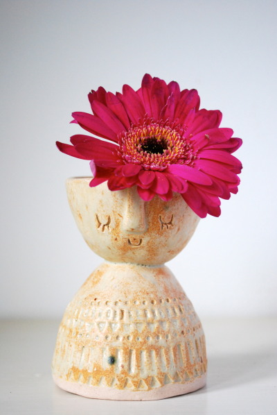 atelierstella:  Atelier Stella. Little lady vase/candle holder. http://www.etsy.com/shop/AtelierStellaLondon