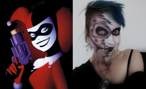 Decided to be a cartoon zombie for AntiChrist!!! so heres Alice Bizarre Vs. Harley Quinn