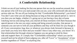 A MUST-READ POST GUYS!    All of us NEED this type of relationship. If you HAVE one, GOD YOU'RE BLESSED! :)  GUESS WHAT, I HAVE THIS COMFORTABLE RELATIONSHIP!!! :)