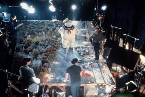 In celebration of Happy Halloween weekend, here's a behind the scenes picture from the making of Ghostbusters: