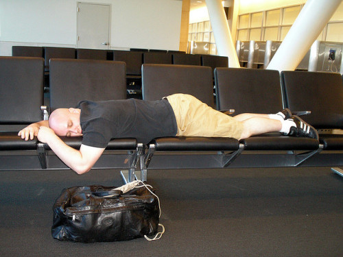 Chairs Not Designed For Sleep by Vicious Bits on Flickr. Armrests be damned!