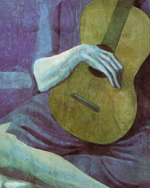 pubertad:  Pablo Picasso, The Old Guitarist (detail), 1903