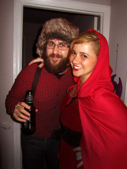 Me as Red Riding Hood with my Lumberjack.