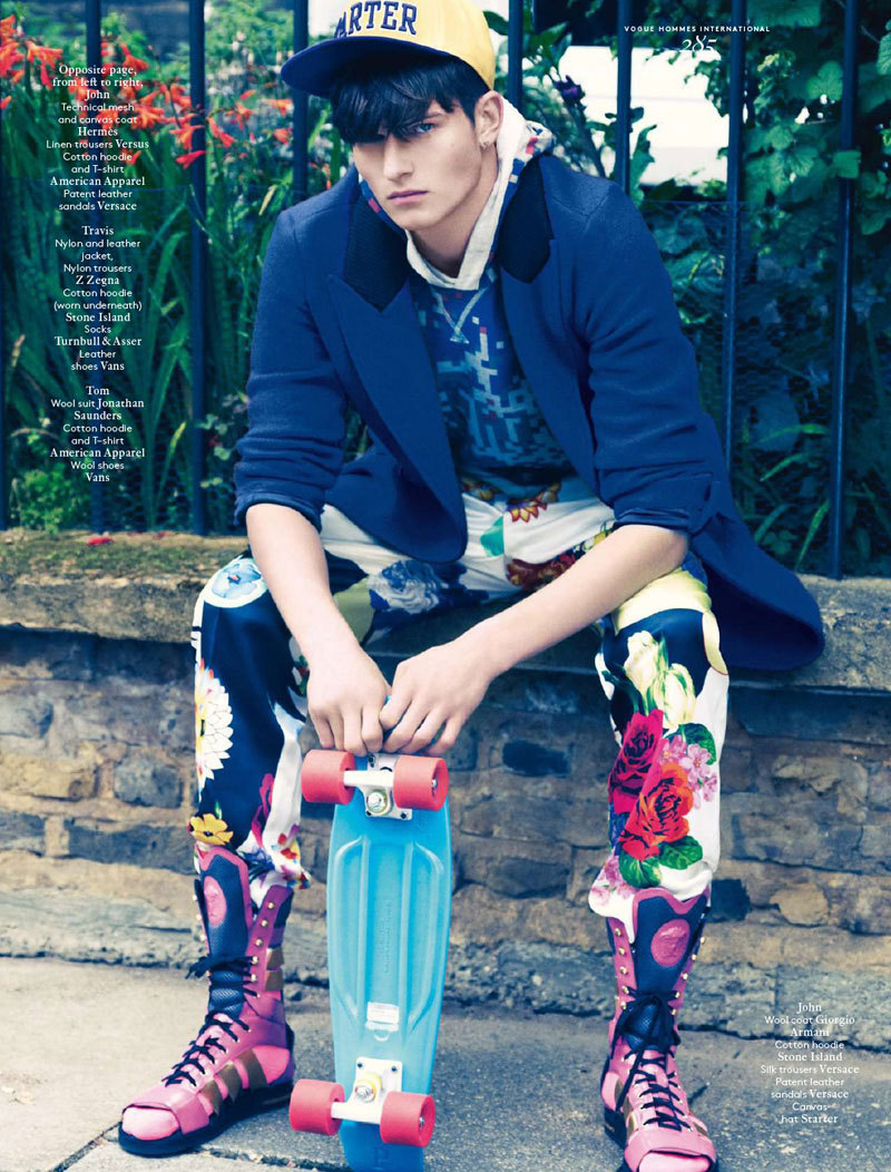 John Todd, Tom Barker and Travis Smith by Chad Pitman for Vogue Hommes International