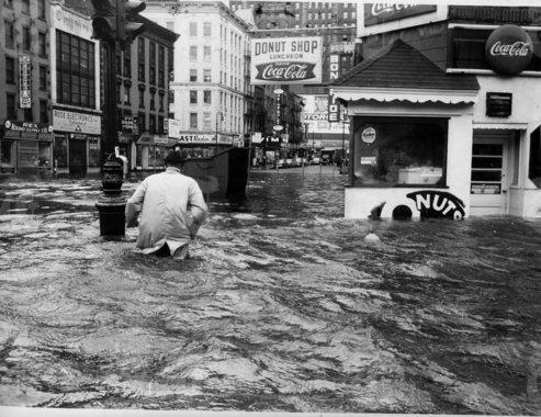 peterfeld:  Lower Manhattan (near present-day WTC) during Hurricane Donna, 1960.  Hm. Well. Yes.