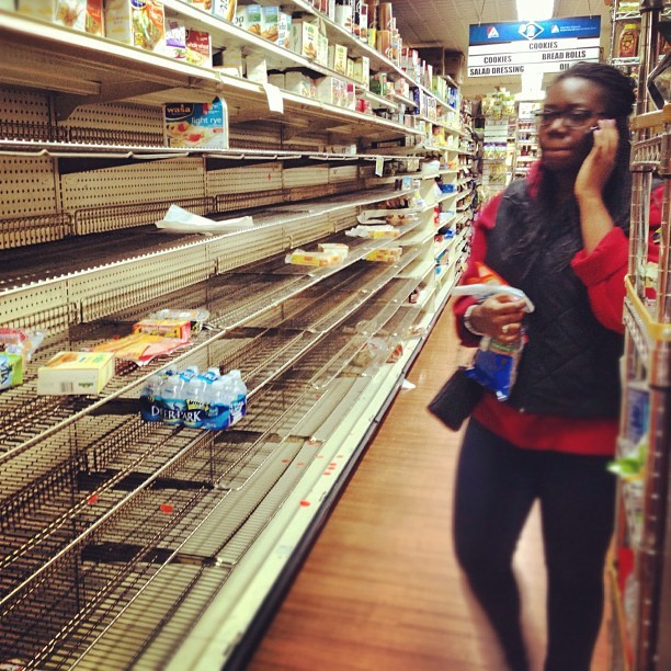 #NYC supermarket before #Sandy (at Associated Supermarket)