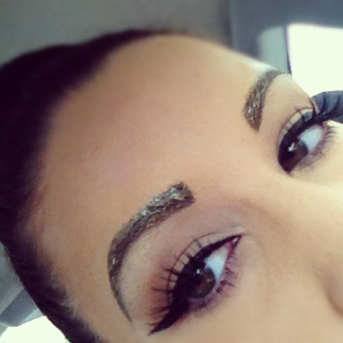 Glitter brows and spikey lashes @ work today! #mac #ilovemaciggirls #macgirlswag #macswag #makeup #glitter #bblogger #bbloggers #cosmetics #halloween #october #dmv 😜