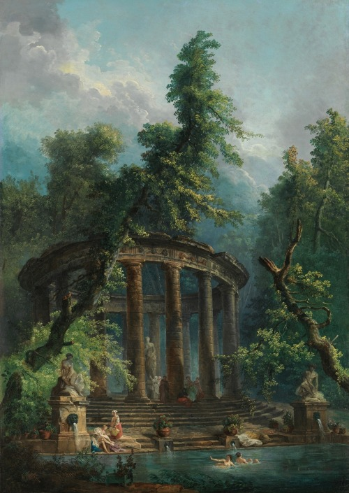 floserber:  Hubert Robert | The Bathing Pool Oil on canvas 68 3/4 x 48 3/4 in. (174.6 x 123.8 cm)