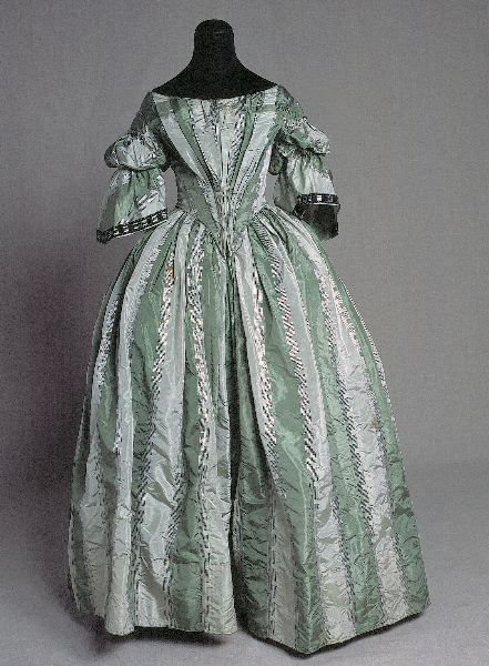 Evening dress, 1860's From Kulturen
