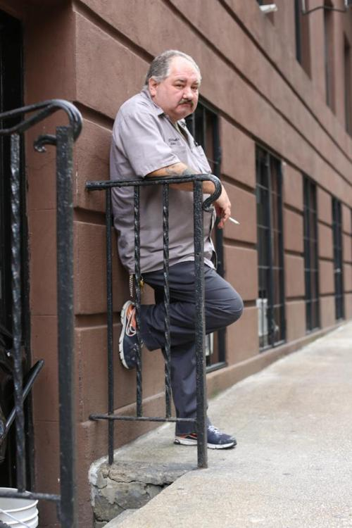 "humansofnewyork:  ""What was the happiest moment of your life?"" ""Last night when I was drunk. The saddest moment is right now. Cause I feel like shit.""  This guy"