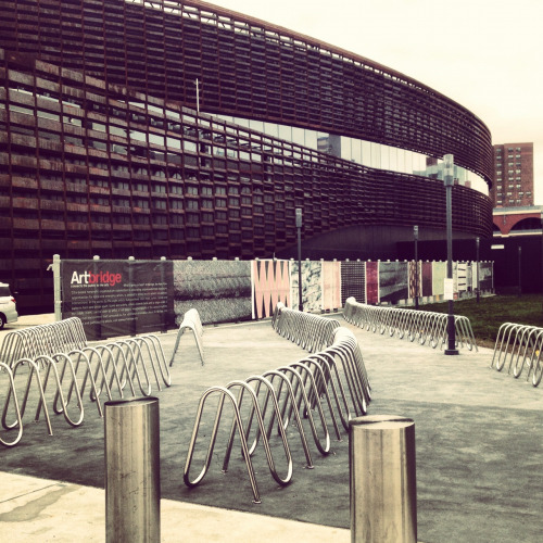 Barclays Center is prepared for Bike Gang! Meanwhile, you can't park your bike anywhere near a Knicks game.