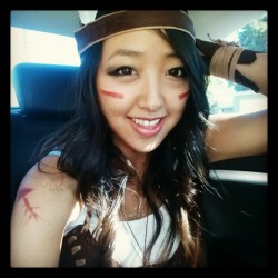 Got my gear on for the fest! #Halloween #costume #tribal #nativeamerican #asian #makeup #instagramers