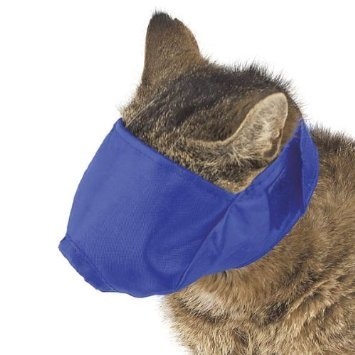 iamjessup:  Guardian Gear Nylon Fashion Cat Fashion Muzzle, Medium, 6-12-Pound, Blue