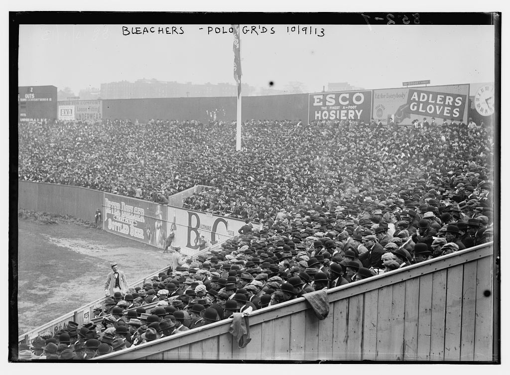 mightyflynn:  Polo Grounds, right field bleachers 1913 World Series Bain News Service photo via Library of Congress
