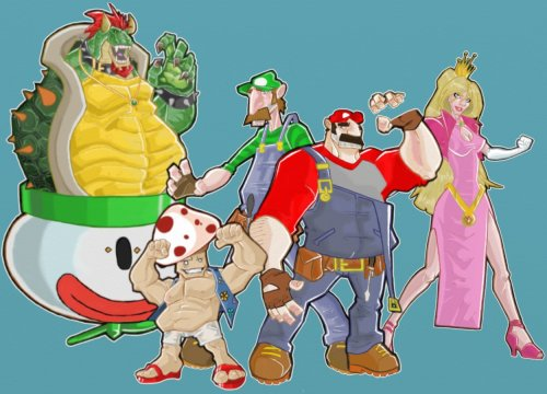 Not quite finished, but here's the residents of the Mushroom Kingdom