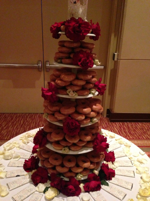 Krispy Creme wedding cake