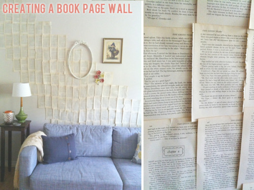 Creating a book page wall via Gussy Sews