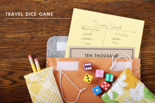 DIY gift idea: travel dice game via Making Nice in the Midwest