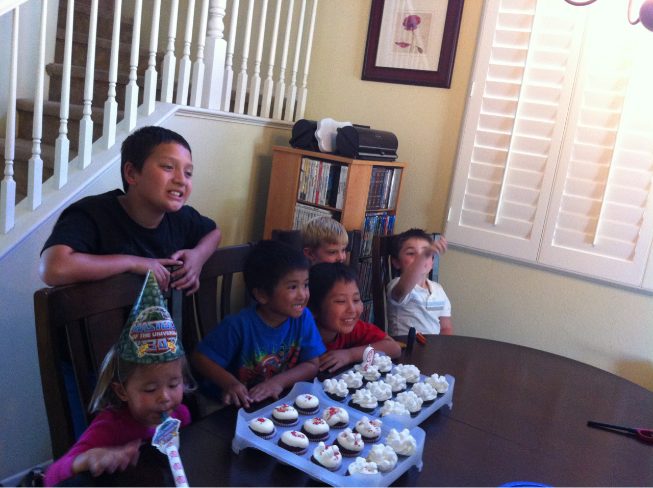 My nephew Nolen is 9 now… that was fast!  Lily is impressed. Well, sorta.