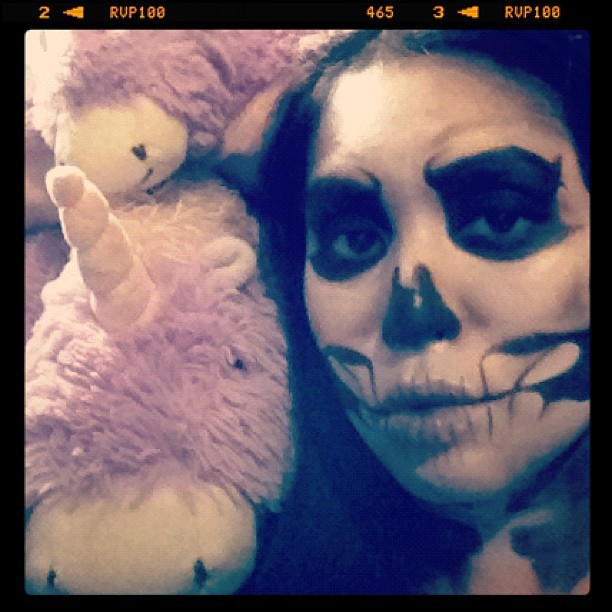 Happy #Halloween! #skull #skeleton #makeup @makeupforeverus