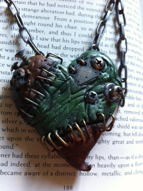 Custom monster heart necklace I did for a customer who didn't end up buying it. Up for grabs!   https://www.etsy.com/listing/113194308/smash-monster-heart-necklace?ref=pr_shop