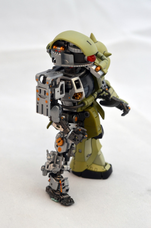 gunjap - Diorama: SD Zaku Inner Frame Ver. Scratchbuild/Custom Work.[w/LED] Photoreview Big Size Images