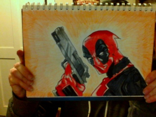 Deadpool. Was a request for someone on Youtube. Took 4 hours topps?
