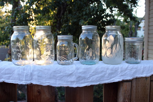 Super productive lately! I finally posted up my about page on my Etsy shop and I've been testing out some new methods for my jars. Super Sunday!