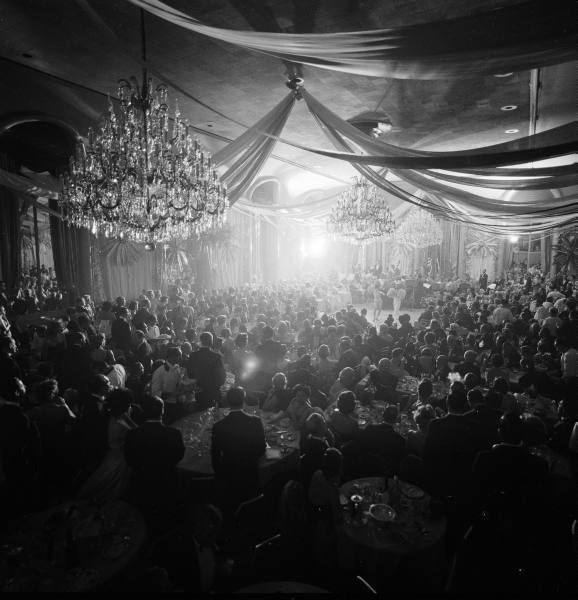 Charity Ball at the Waldorf Astoria, November, 1958. Photograph by Yale Joel.