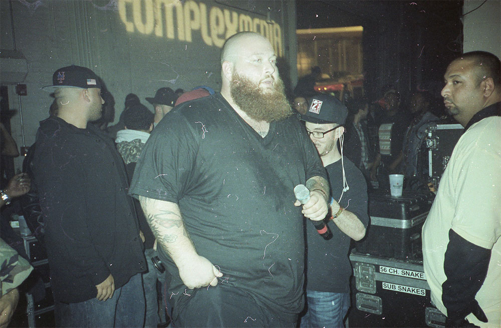 I snuck back stage for this shot of Action Bronson at the CMJ showcase.