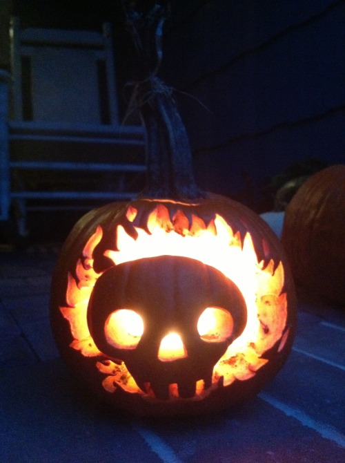 I finally took a better picture of my Omnizod jack-o-lantern.