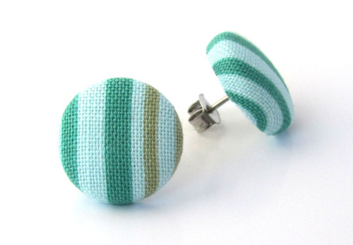 Tiny stud earrings winter post green light blue by ~KooKooCraft on deviantART