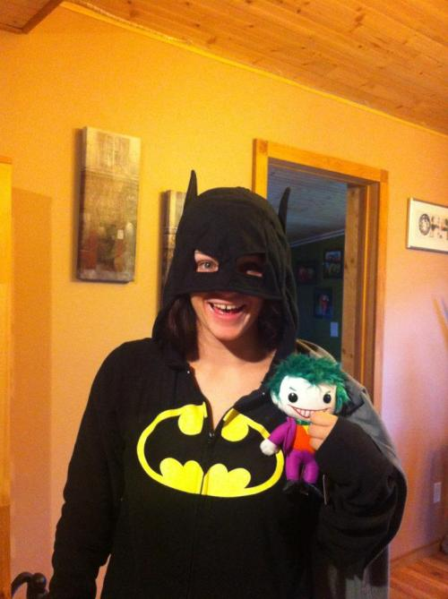 Batman onesie and Plush Joker!