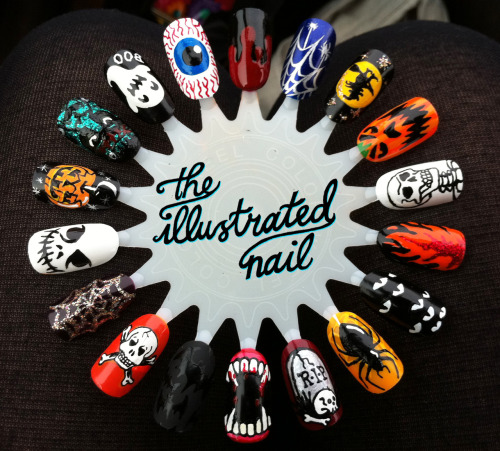 theillustratednail:  TRICK OR TREAT…