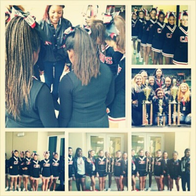 My girls won their cheerleading competition :) They deserved it #Proud #Coach #FirstPlace #Cheerleading #LittleCavs #Yaay!