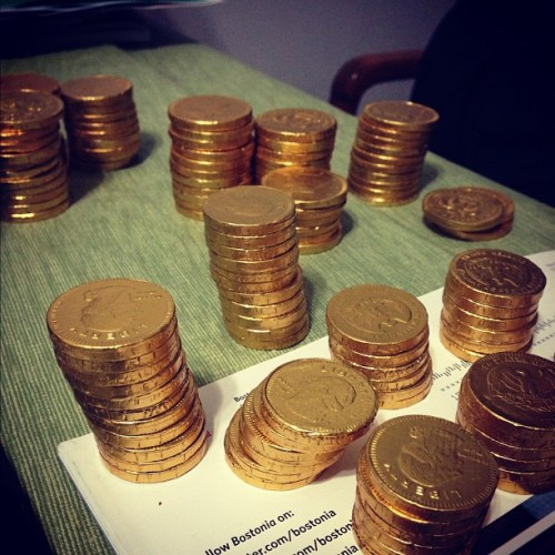 Feeling like Scrooge McDuck #ducktales #chocolatecoins