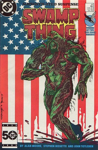 Saga of Swamp Thing #44, January 1986, written by Alan Moore, penciled by Stephen Bissette