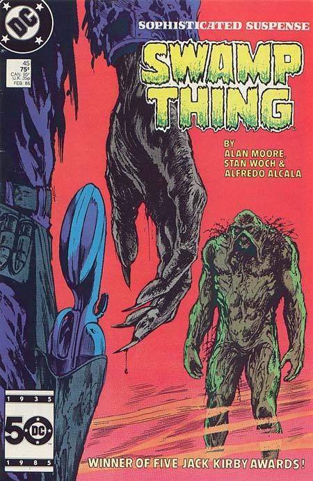 Saga of Swamp Thing #45, February 1986, written by Alan Moore, penciled by Stan Woch