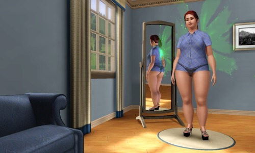 simsgonewrong:  I was hitting the randomize button then THIS beautiful creature appeared. Classy!